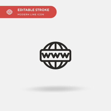 Domains Simple vector icon. Illustration symbol design template for web mobile UI element. Perfect color modern pictogram on editable stroke. Domains icons for your business project .