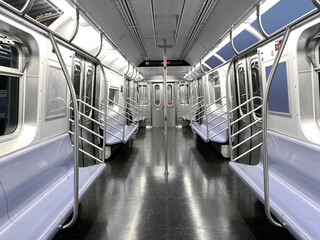 Empty subway seat in New York during Pandemic