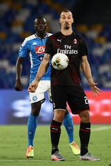 2020 Serie A Football Napoli v AC Milan Jul 12th