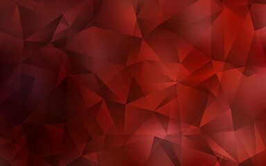 Dark Red vector triangle mosaic texture. Geometric illustration in Origami style with gradient.  Triangular pattern for your design.