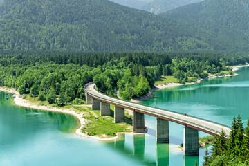 Lake Sylvenstein in Bavaria