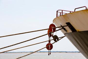 Amarres du bateau porte-conteneurs