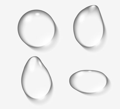 Mockup realistic Water drops isolated on transparent background. Vector illustration