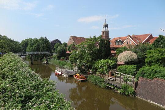 Blick auf Ditzum in Ostfriesland