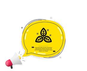 Fair trade icon. Quote speech bubble. Bio cosmetics sign. Organic tested symbol. Quotation marks. Classic fair trade icon. Vector