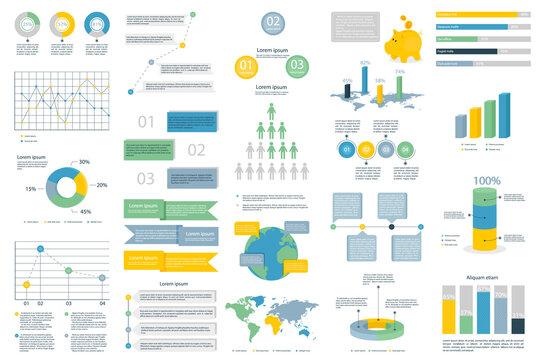 Infographic data elements vector design