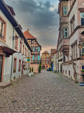 Alsace. Colorful traditional houses in Colmar,France