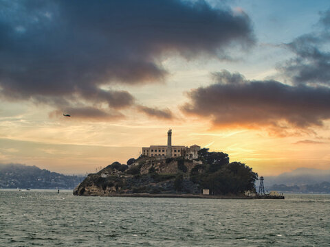 Alcatraz Prison. An Island Prison In San Francisco Bay. USA