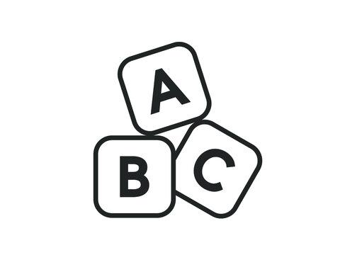 Abc  cubes vector design.  Abc blocks vector design.