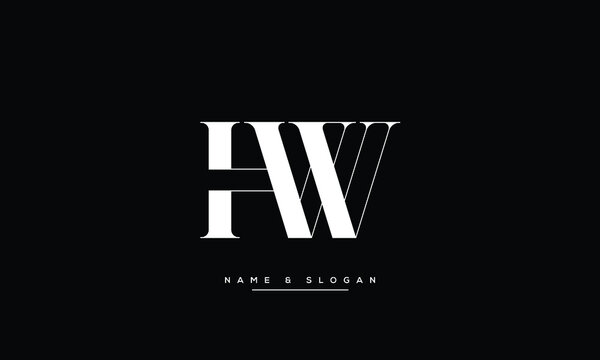 HW ,WH ,H ,W abstract letters logo monogram