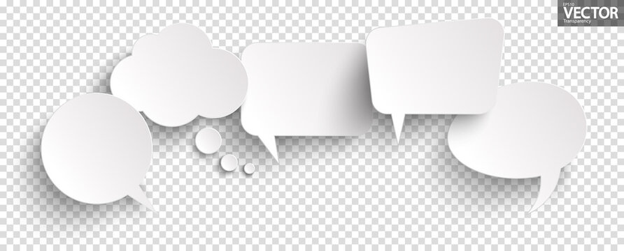 sticker speech bubbles with shadow
