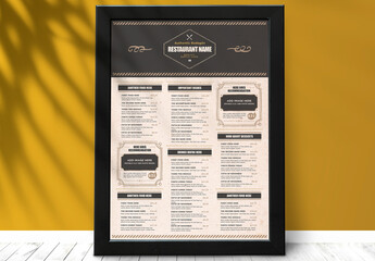 Rustic Food Poster Layout