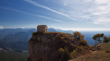 The chapel Saint-Michel de Cousson in the mountains of Digne les Bains, France