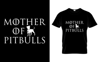 Pitbull Dog Vector graphic for t shirt. Vector graphic, typographic poster or t-shirt. Pitbull label with T-Shirt. Pitbull T-Shirt Design