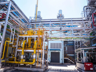 Fototapeta Fuel gas fitter systems in industry zone at Combined-Cycle Co-Generation power plant.