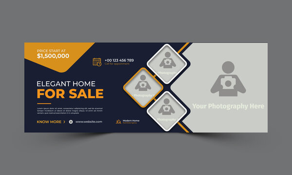 home sale facebook cover template