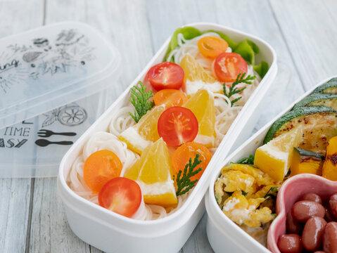 手作りのおいしい夏のお弁当【素麺 そうめん】