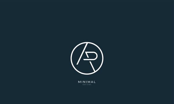 Alphabet letter icon logo AP