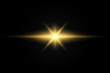 Shining star, the sun particles and sparks with a highlight effect, color bokeh lights glitter and sequins Wall mural