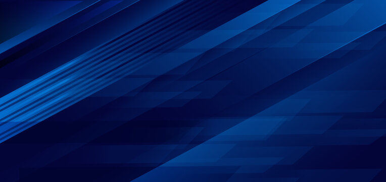 Abstract technology concept dark blue stripes geometric overlapping background.