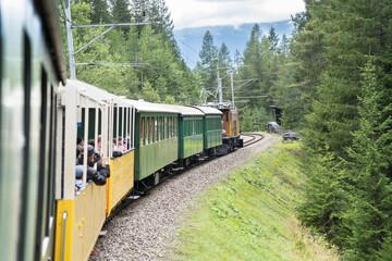 Door stickers Crocodile Historic steam train in Davos, Switzerland