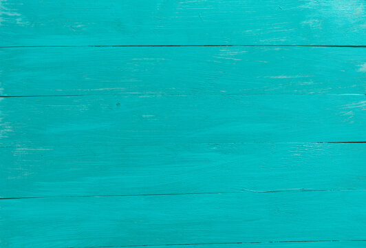 Blue background. Wooden blue horizontal boards background.