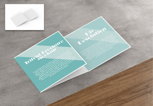 Mockup of a Trifold Brochure