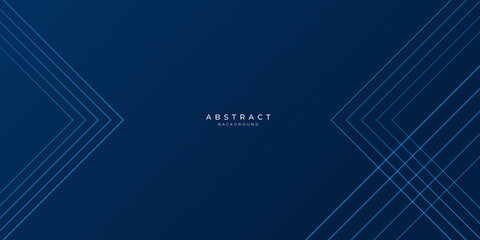 Blue background with abstract lines triangle modern element for banner, presentation design and flyer