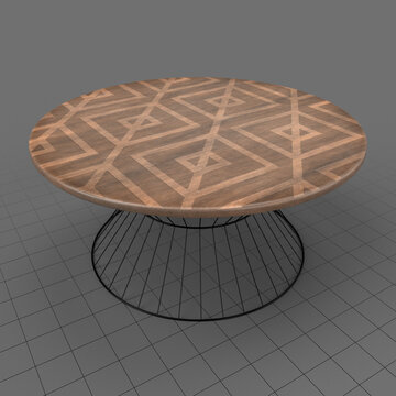 Industrial style circular table