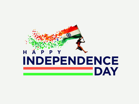 Happy Independence day India, Vector illustration, Flyer design for 15th August and Republic Day of  India