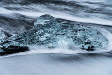 Long exposure images of ice and surf on the Diamond Beach (Breiðamerkursandur) in southern Iceland Fotomurales