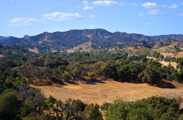Scenic mountains landscape at Mulholland corridor overlook, Calabasas, CA