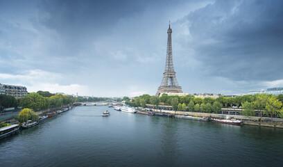 Fotomurales - Eiffel tower in Paris. France