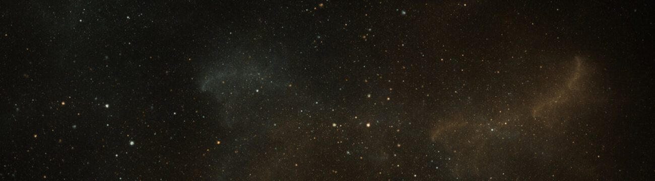 space texture illustration with stars wide aspect ratio
