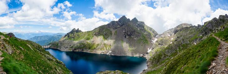 Landscape of Lake Inferno in the Italian alps