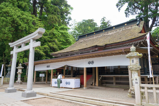 Kashima Shrine (Kashima jingu Shrine) in Kashima, Ibaraki Prefecture, Japan. Kashima Shrine is one of the oldest shrines in eastern Japan.
