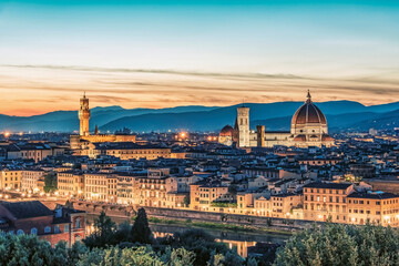 Wall Mural - Florence city at sunset, Italy