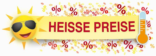 Paper Banner Funny Sun Percents Heisse Preise