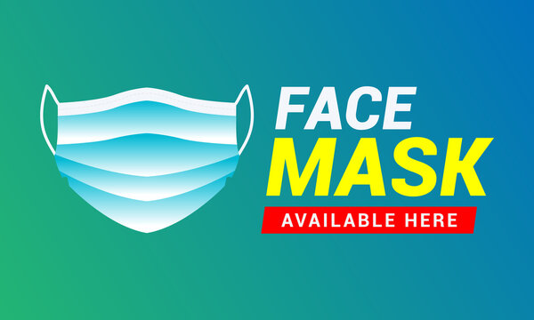 face mask available here poster