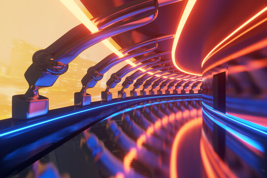 3D Illustration of a science fiction interior