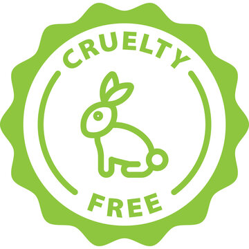 cruelty free green icon stamp rounded