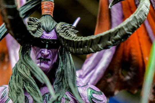 RUSSIA, ST.PETERSBURG - MAY 05, 2018: Illidan Stormrage characters from the world of warcraft game