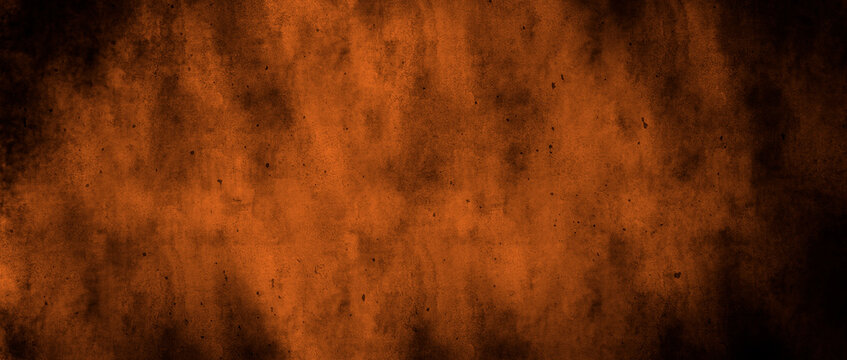 Orange and black watercolour gradient autumn halloween background