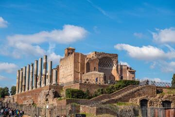 Forum Romanum, widok od strony Closeum, Rzym, Włochy
