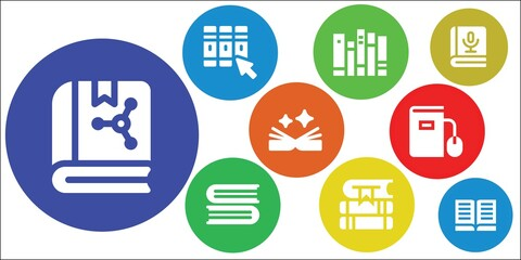 Modern Simple Set of e-book Vector filled Icons