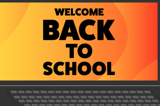 Back to School holiday concept. Template for background, banner, card, poster with text inscription. Vector EPS10 illustration.