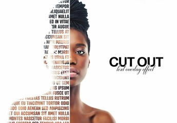 Cut Out Portrait Text Overlay Effect Mockup