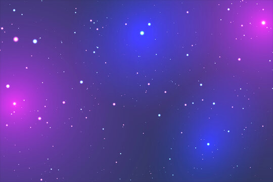 Retrowave Starry Background With Pink and Blue Shades. EPS10 Vector With Transparency