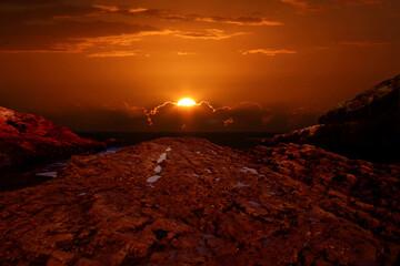 Photo sur Aluminium Rouge mauve Sunset at Spooner's Cove
