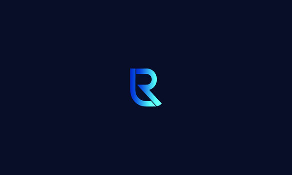 Abstract, Creative, Minimal and Unique Alphabet letters LR, RL logo